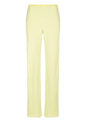 Peter Cohen fluid straight trousers - Green