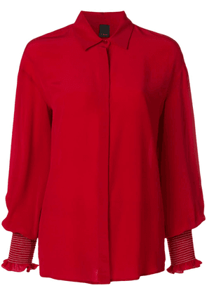 Pinko Alberto cuff detail shirt - Red