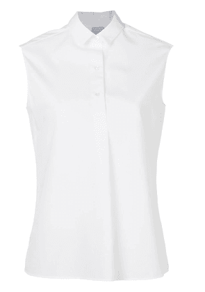 Aspesi sleeveless shirt - White