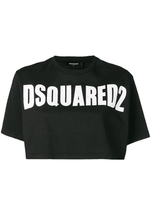 Dsquared2 logo print cropped top - Black