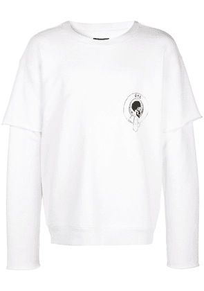 Rta 117 quilted sweatshirt - White