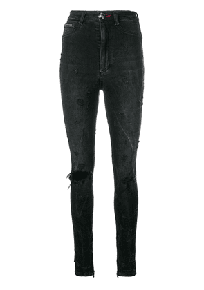 Philipp Plein distressed skinny jeans - Black
