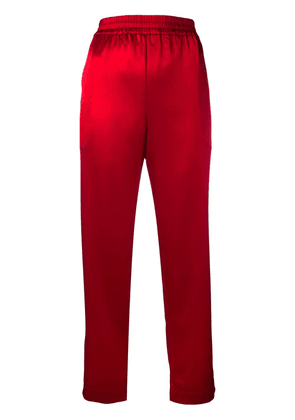 Gianluca Capannolo elasticated straight-leg trousers - Red
