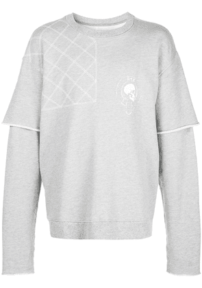 Rta 117 quilted sweatshirt - Grey
