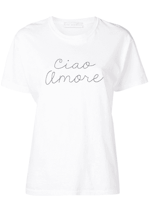 Giada Benincasa ciao amore embroidered T-shirt - White