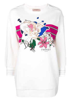 Twin-Set floral print sweatshirt - Neutrals