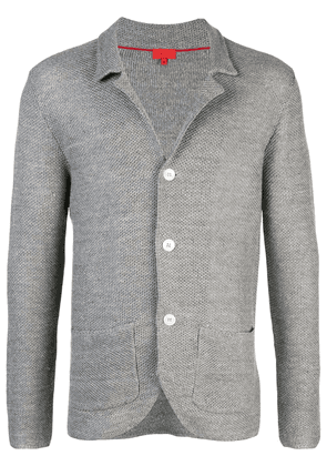 Isaia knitted cardigan - Grey