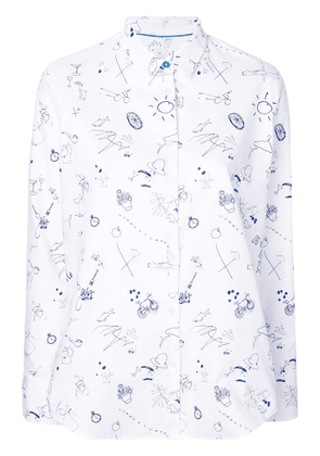 Ps By Paul Smith sketchbook conversational printed shirt - White