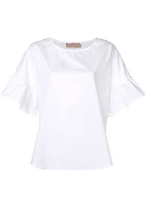 Twin-Set ruffle sleeve blouse - White