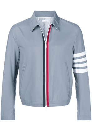 Thom Browne 4-Bar Swim-Tech Golf Jacket - Grey