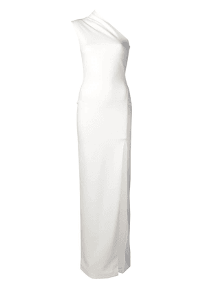 Solace London Averie one-shoulder gown - White