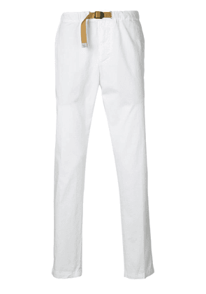 White Sand belted slim-fit trousers