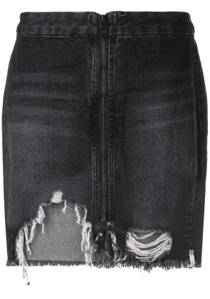 One Teaspoon distressed denim skirt - Black