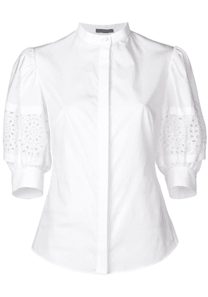 Alexander McQueen broderie anglaise blouse - White