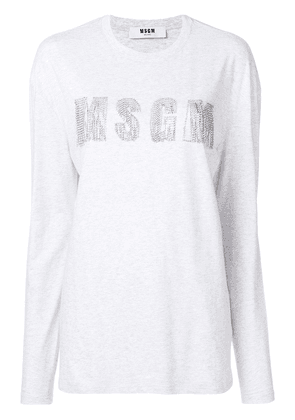MSGM logo T-shirt - Grey