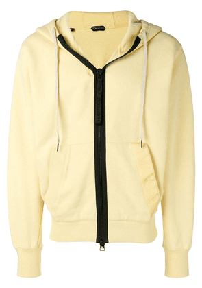 Tom Ford contrast zip jacket - Yellow