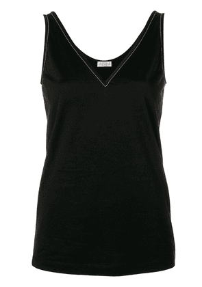 Brunello Cucinelli embellished V-neck vest top - Black
