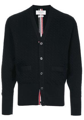 Thom Browne cable knit cardigan - Blue