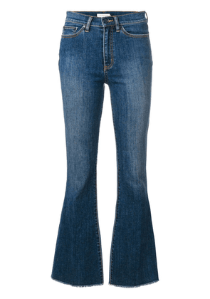 Tory Burch Ryan frayed flare jeans - Blue
