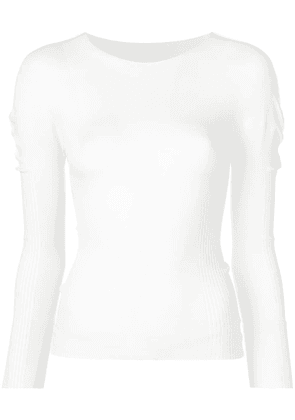 Pleats Please By Issey Miyake fitted knitted top - White