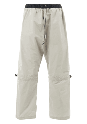 A-Cold-Wall* elasticated drawstring track trousers - Neutrals