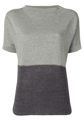 Fabiana Filippi contrast panels knitted top - Grey