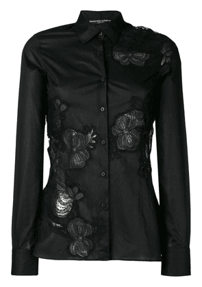 Ermanno Scervino cut-out detail shirt - Black