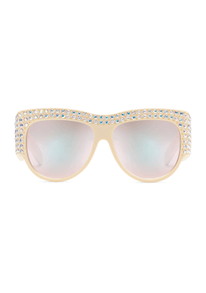 Oversize sunglasses with crystals