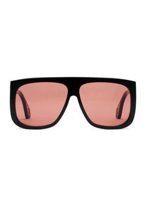 Square-frame sunglasses with blinkers