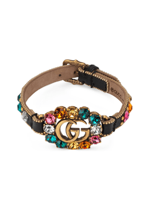 Leather bracelet with Double G