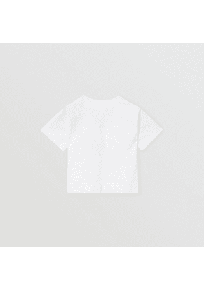 Burberry Childrens Horseferry Print Cotton T-shirt, White
