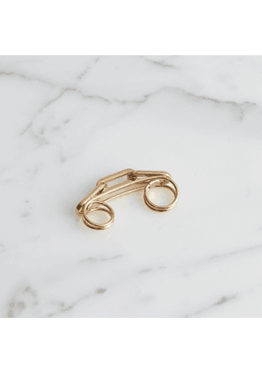 Burberry Gold-plated Link Double Ring