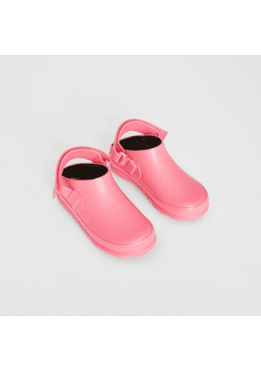 Burberry Childrens Check Detail Rubber Sandals, Pink