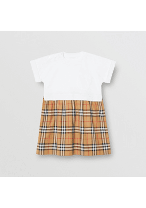 Burberry Childrens Vintage Check Cotton Dress, Size: 10Y, White