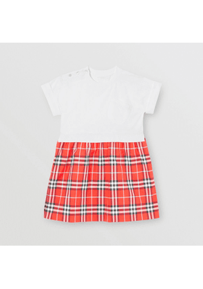 Burberry Childrens Vintage Check Cotton Dress, Size: 10Y, Red