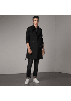 Burberry The Chelsea - Long Trench Coat, Black
