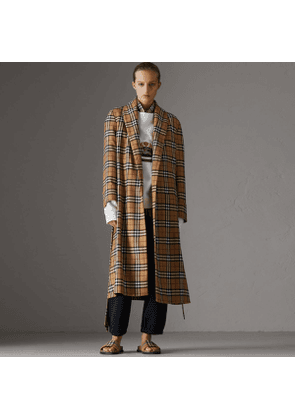 Burberry Reissued Vintage Check Dressing Gown Coat, Yellow