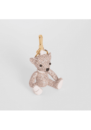 Burberry Thomas Bear Charm in Monogram Print Leather, Pink