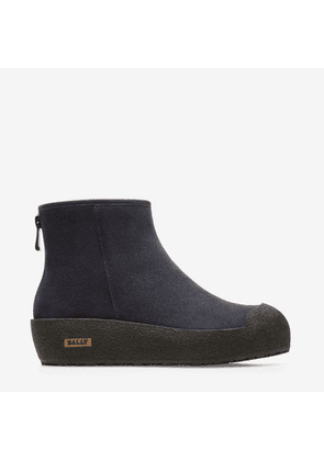 Bally Guard Blue, Women's calf suede boots in dark navy