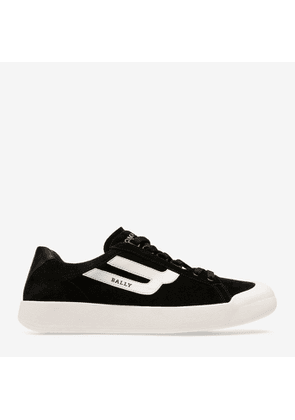 Bally The New Competition Black, Men's calf suede trainer in black