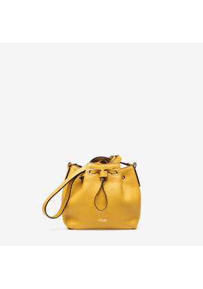 Bally Roux Orange, Women's calf leather minibag in gold sand