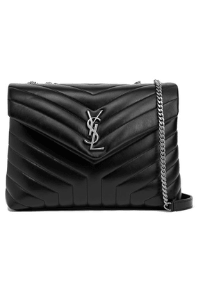 SAINT LAURENT - Loulou Medium Quilted Leather Shoulder Bag - Black