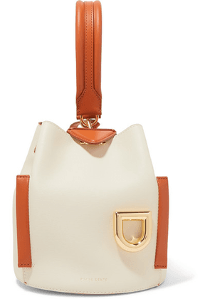 Danse Lente - Josh Smooth And Textured-leather Bucket Bag - White