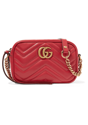 47d712bc8ffb Gucci - Gg Marmont Camera Mini Quilted Leather Shoulder Bag - Red