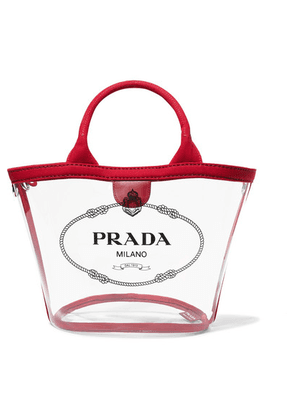 Prada - Canvas-trimmed Logo-print Pvc Tote - Red