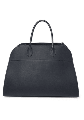 The Row - Margaux 15 Buckled Textured-leather Tote - Navy