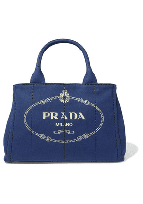 Prada - Logo-print Canvas Tote - Blue