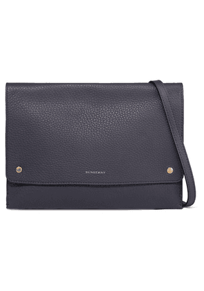 Burberry - Textured-leather Shoulder Bag - Charcoal