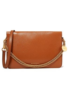 Givenchy - Gv Cross Suede-trimmed Leather Shoulder Bag - Tan