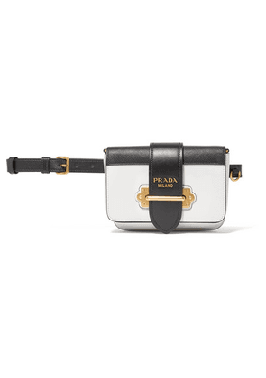 Prada - Cahier Smooth And Textured-leather Belt Bag - White